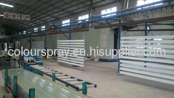 automatic aluminum profile coating line