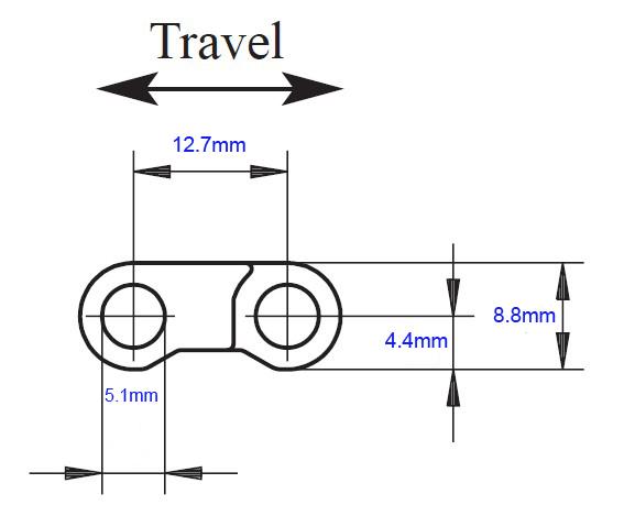 Plastic closed top straight running modular conveyor belt (RW FT-QNB-K300)