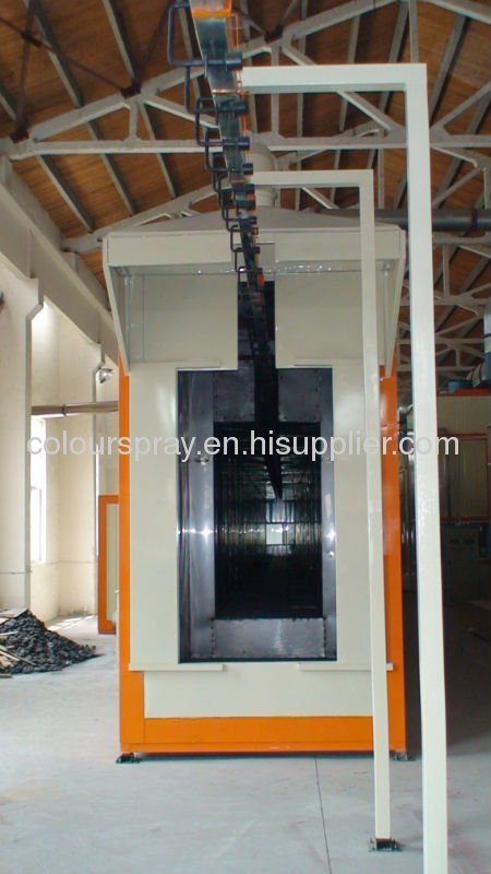 Powder Spray Booth with Recovery Systems