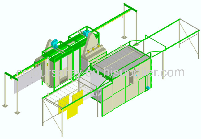 manual powder coating painting line