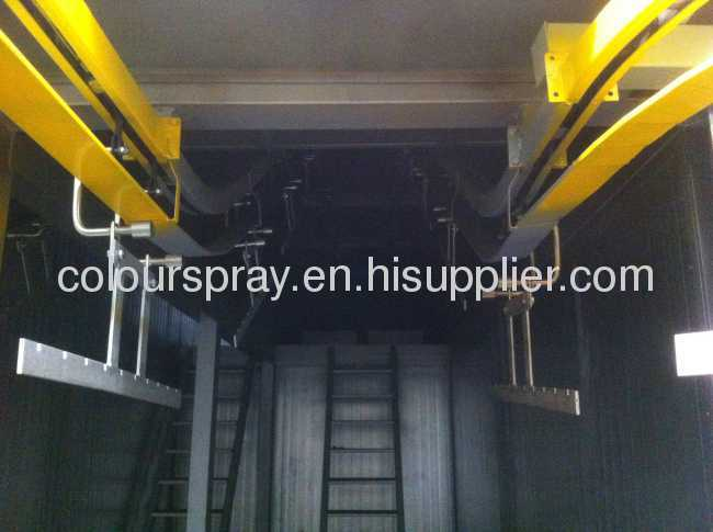 conveyor based automatic powder coating lines