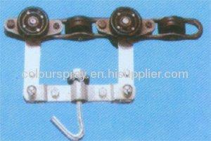 speader for powder coating conveyor system