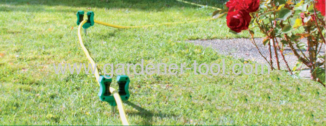 Plastic Garden Hose Guide With Zinc Spike Proventing Hose From Hose Pulling damage