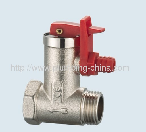 J-201-B brass safety valve for heating
