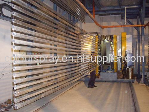 Aluminum profile powder coated production line