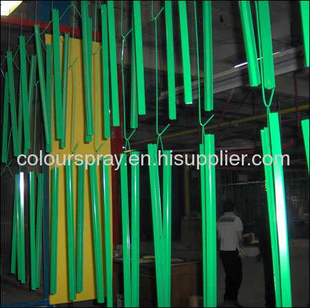 Small scale powder coating line for small coating job