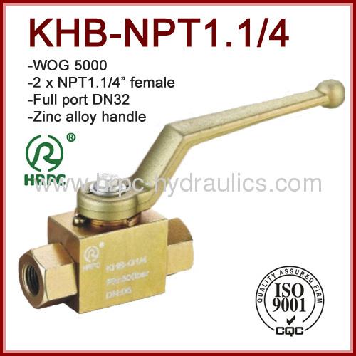 dn32 2 x female thread NPT steel high pressure oil ball valve 5000psi