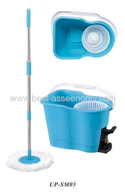Foot pedal goldfish bucket spin go mop120CM Hand Press Stainless Steel Spin Go Magic Mop Pole