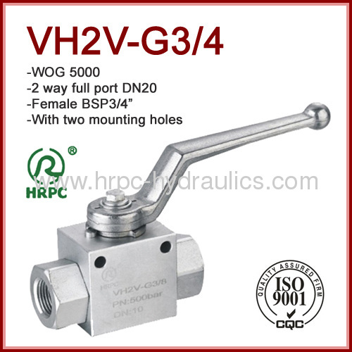 Europe exporting good quality hydraulic oil ball valve manual operate