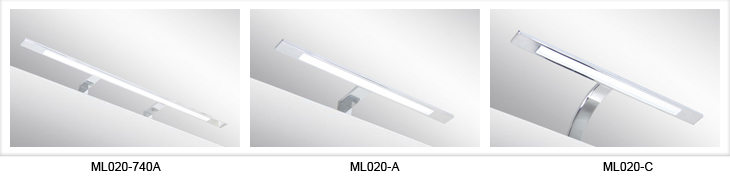Italy Modern design chrome aluminum 400mm bathroom mirror led light / 6W bathroom mirror lamp CE ROHS IP44 110V/220V AC