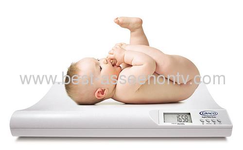 Baby Scale Weighing ScaleDigital LCD Display Baby Scale Weighing Scale With built-in Measuring tape