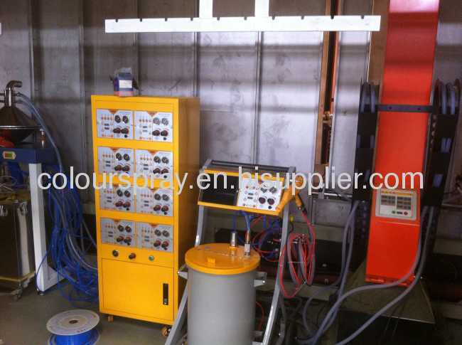 POWDER COATING BOOTH WITH CYCLONE RECOVERY