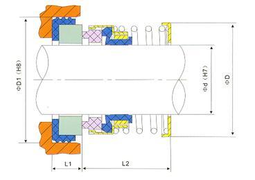 john crane water pump mechanical seal 21-1 1/2
