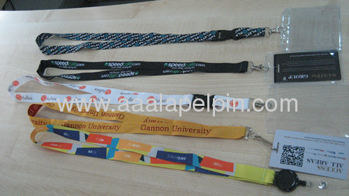 fashion dye sublimation lanyards