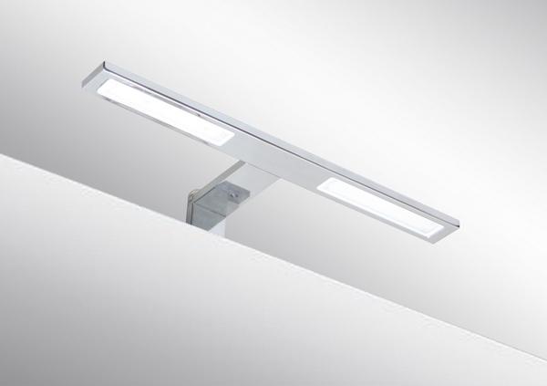 Italy Modern design chrome aluminum 300mm bathroom mirror led light /6W bathroom mirror lamp CE ROHS IP44 110V/220V AC