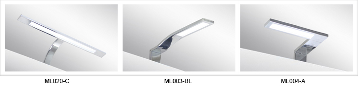 Italy Modern design chrome aluminum 240mm bathroom mirror led light / 3W bathroom mirror lamp CE ROHS IP44 110V/220V AC