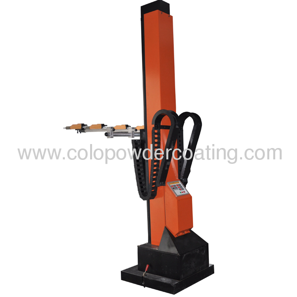 automatic powder coating gun system for complex work piece