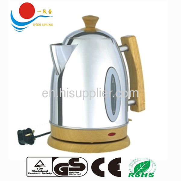 wooden handle stainless steel kettle