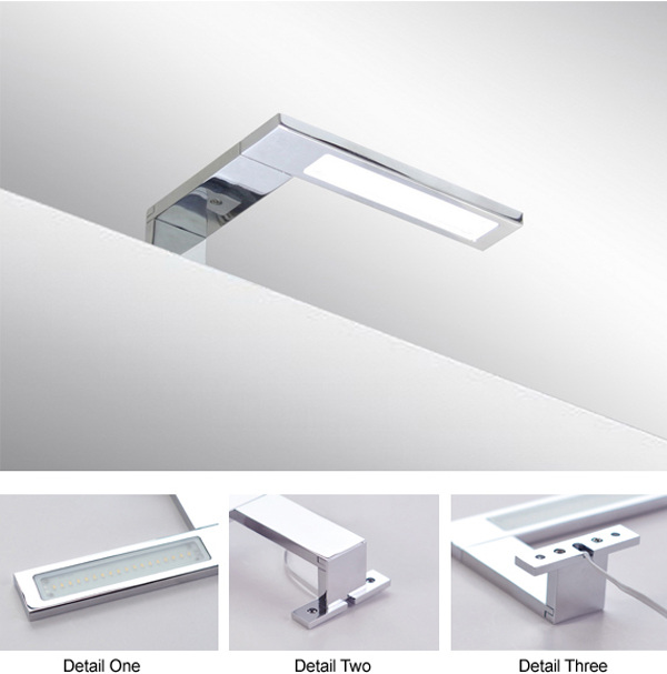 Italy Modern design chrome aluminum 155mm bathroom mirror led light / 3W bathroom mirror lamp CE ROHS IP44 110V/220V AC