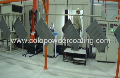 automatic powder coating line of cabinet