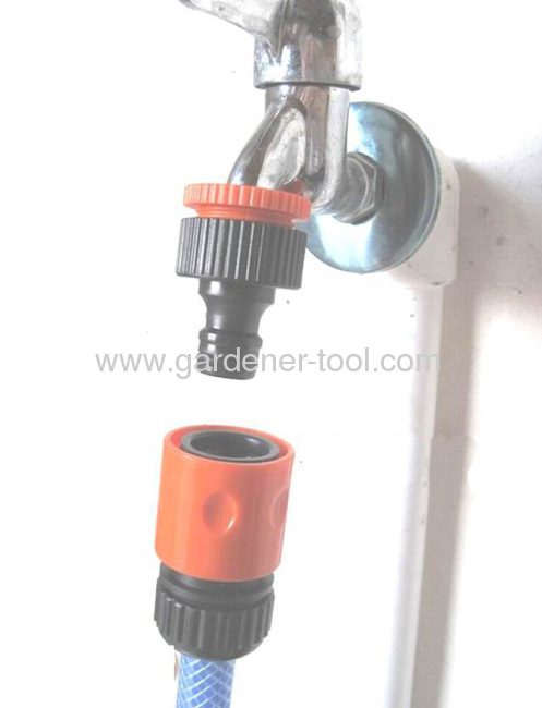 Plastic 3/4snap-in quick connector for connecting hose