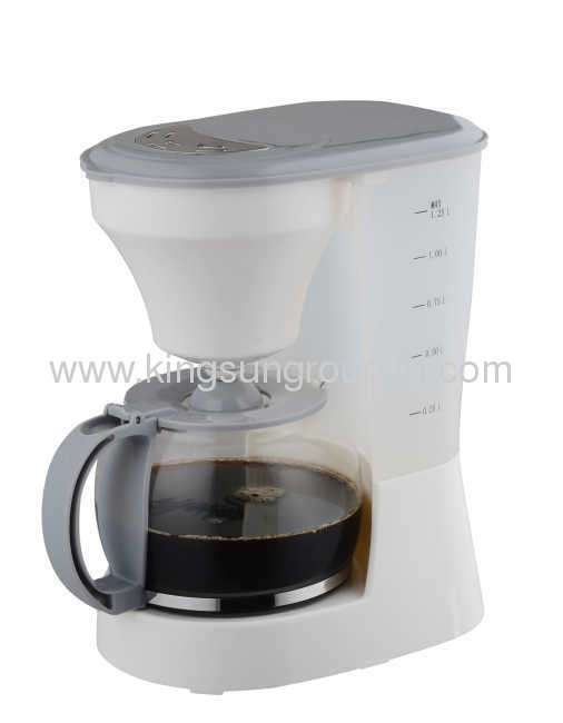 PP700 Plastic body with S/S decoration /10-12 cups drip coffee maker