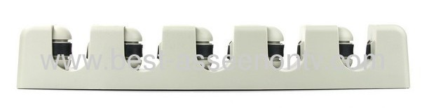 High Quality Wall Mounted 5 Position Mop Broom Holder Tool c/w Hooks