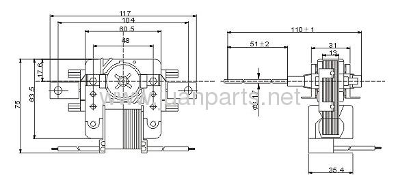 Shaded Pole Motor EM998