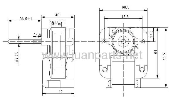 Shaded Pole Motor EM670 EM672 HVAC Parts