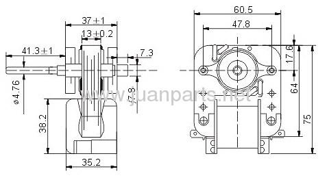 Shaded Pole Motor ESM55
