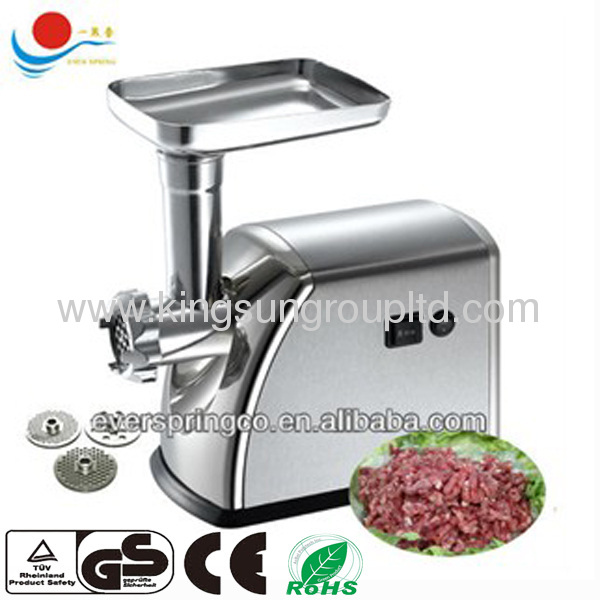 Max locked power 1800W Stainless steel meat grinder
