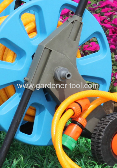 Water Hose Trolley With Wheel For 30M PVC Garden Hose Set