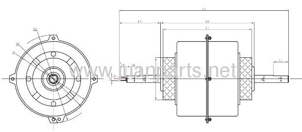 Window-type air condtioner motor fan motor