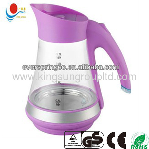 1.8L glass water kettle, 360 degree rotationgood price
