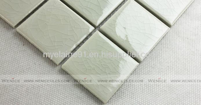 Decorative glossy ceramic mosaic for interior living room