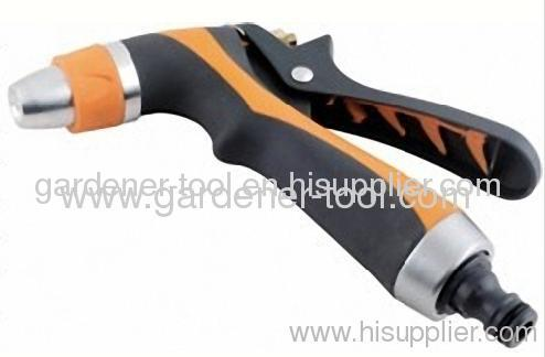 Zinc 2-way Garden Water Nozzle With Soft Double Color Grip