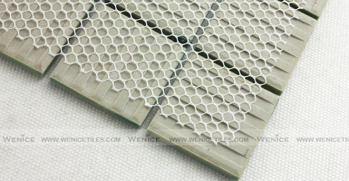 Mint color tile mosaic in Net Paster300x300mm