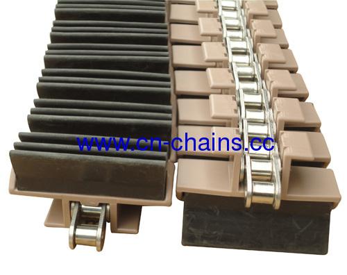 Side flexing integrated gripper conveyor chains(RW-YY-1873G4-K325))