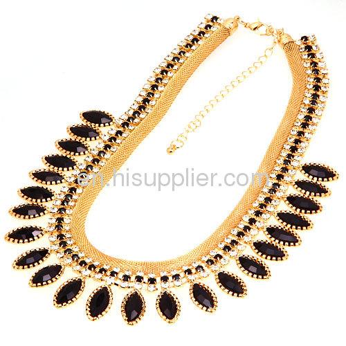 Wholesale New Fashion Jewelry 2013 Chunky Rhinestone Bib Necklace