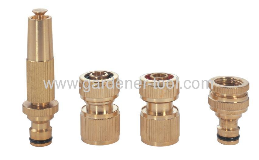 Brass Hose Connector Set Include brass nozzle and brass connector.