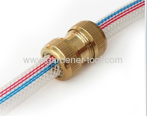 3/4Brass Hose Mender For Jointing 2pcs 3/4PVC Garden Hose Together For Length