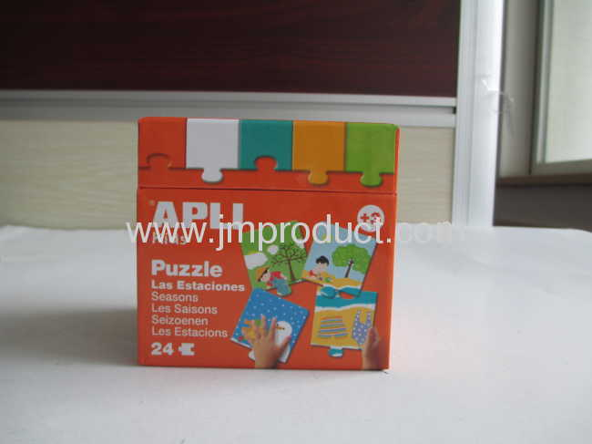 Seasons education puzzle in high quality box