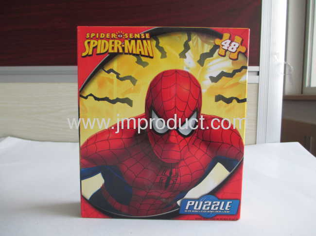 spider-man 48pieces puzzle in corrguated box