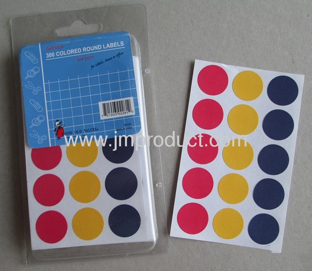 Color printed price labels for school, home & market