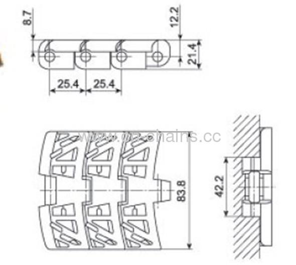 Flush Grid Magnetflex Chainbelt 1050 /39269010