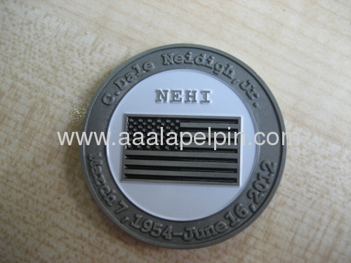 Two differentsides design Soft Enamel Challenge Coin pin