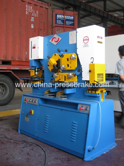iron worker punching and cutting machine