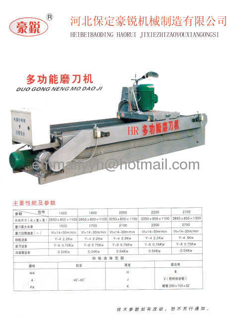 grinder machine for blade