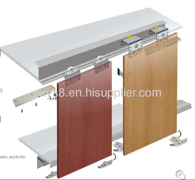 Inside and outside design hanging sliding door roller ydb 25 series