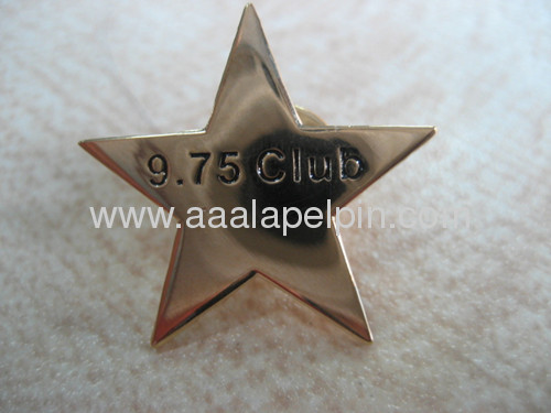 Star-shaped Fashionable Tin Custom Lapel Pin for Promotional Use